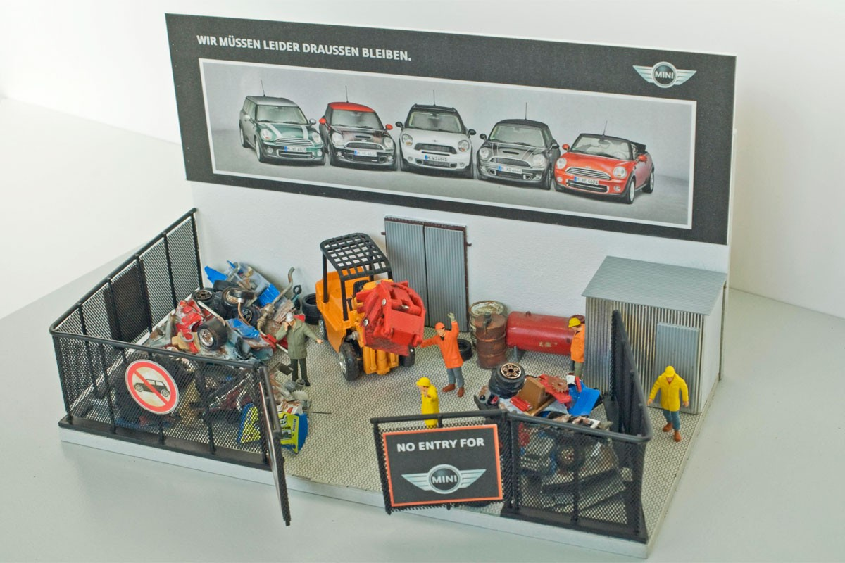 concept for IAA fair scrapyard booth