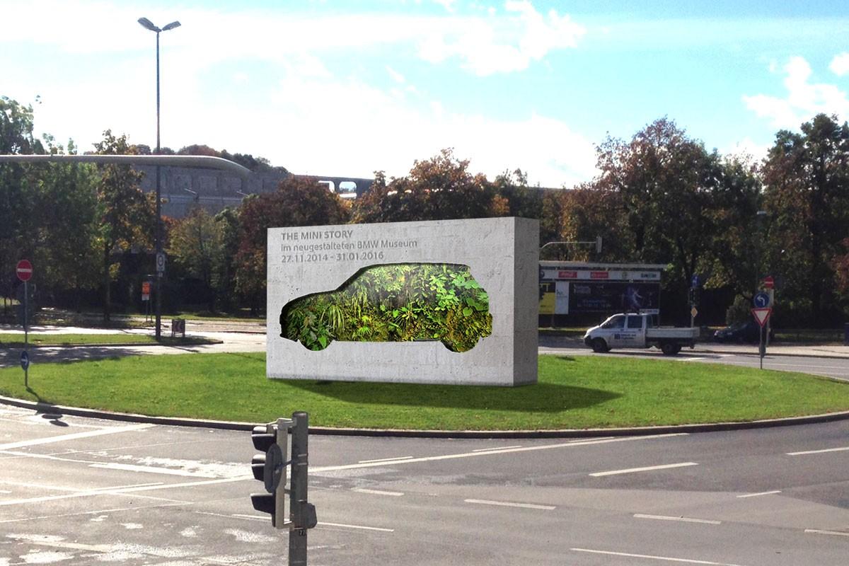 MINI concept traffic island MINI greenhouse