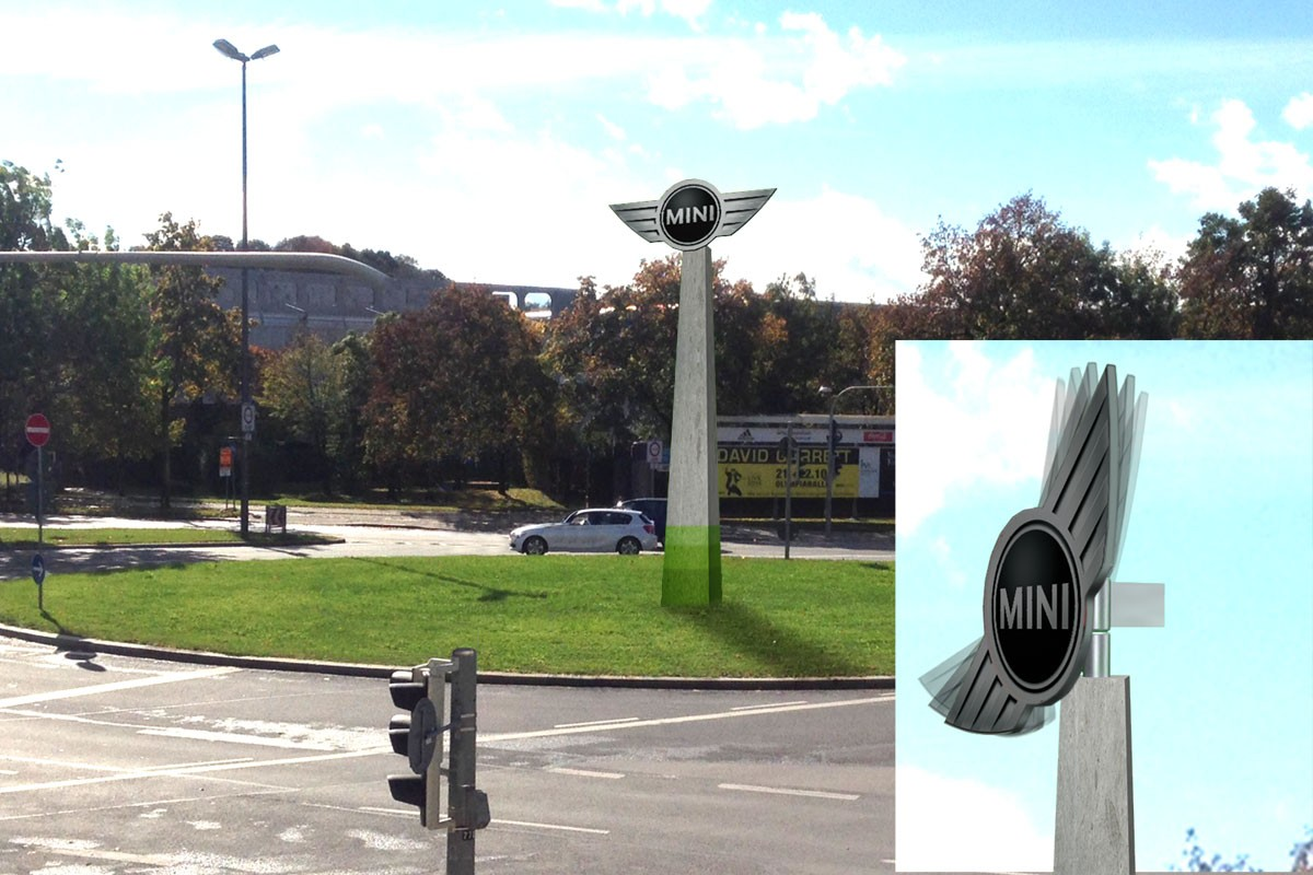 MINI concept traffic island windwheel