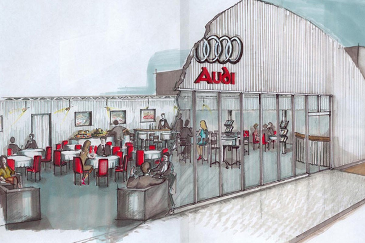 Audi press tent draft