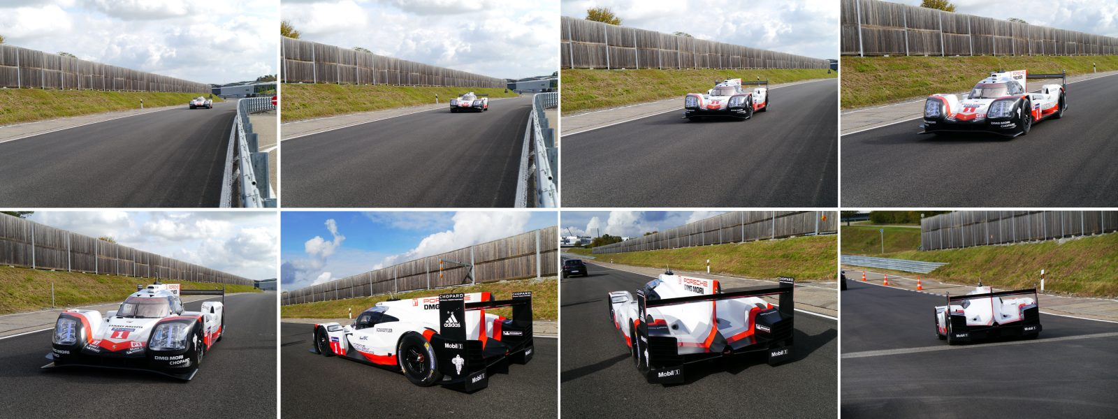 Electric Showcar LMP1 on race track