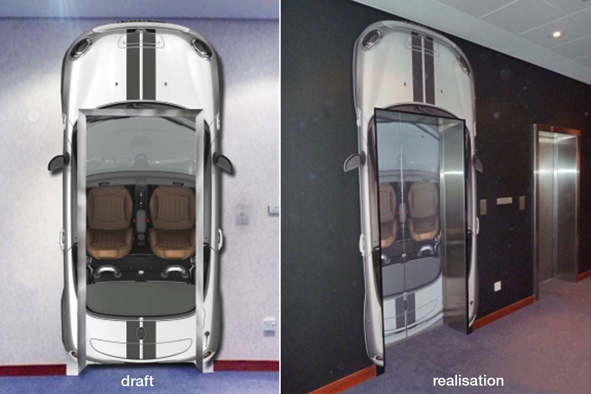 MINI Roadster Lift panelling, Head Office Munich