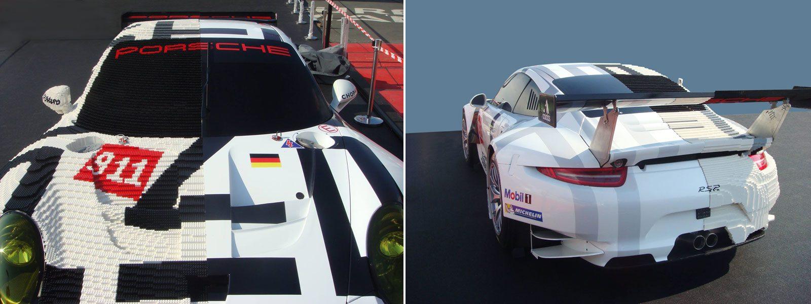 Porsche 911 RSR - half Lego brick body/half original body