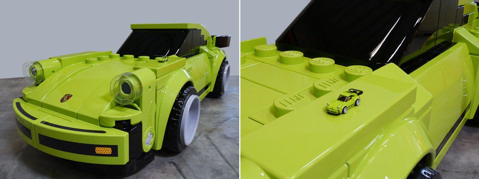 big brick LEGO-Porsche 911 vs. original