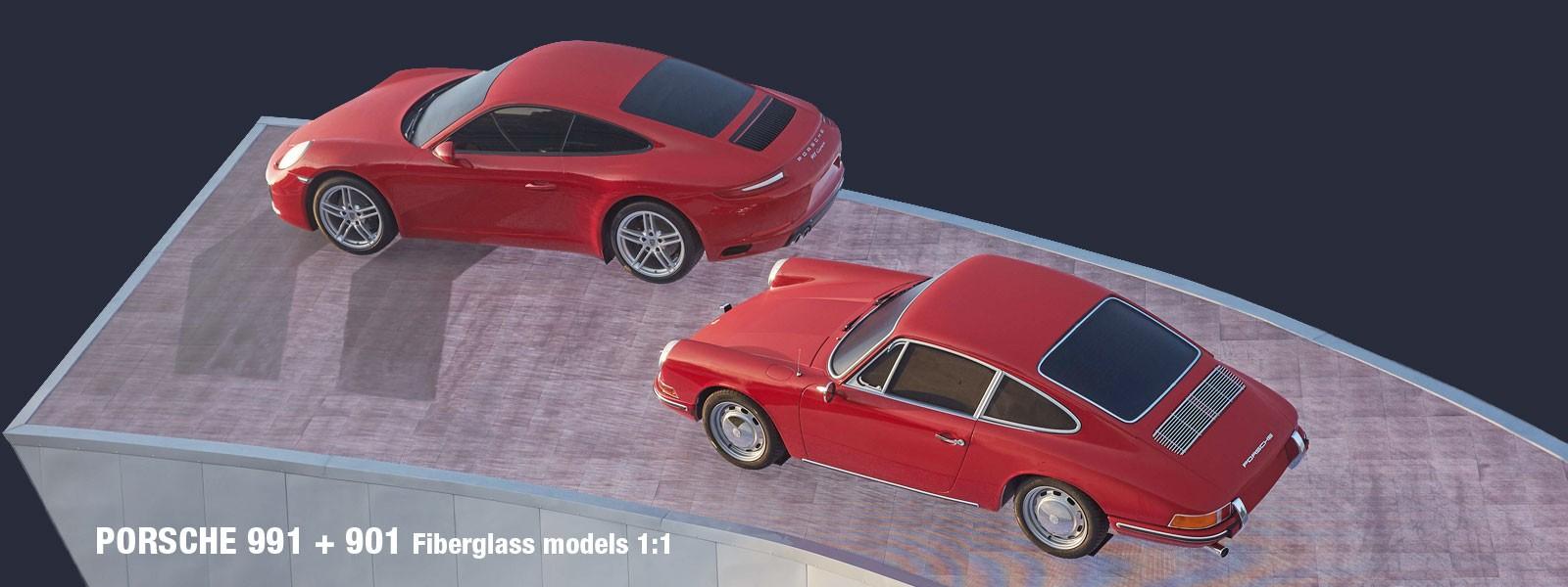 Porsche 991 and 911